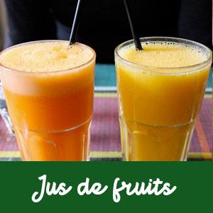 Les Jus de fruits frais de saison